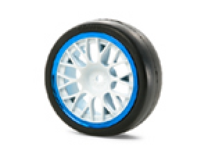 Medium-Narrow Mesh Wheels (White &amp; Blue Rims/+2)