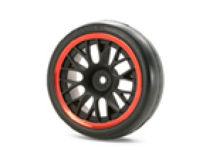 Medium-Narrow Mesh Wheels (Black &amp; Red Rims/+2)