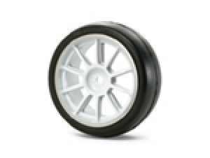 Medium-Narrow 10-Spoke Wheels (White &amp;  Chrome Rims/0)