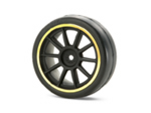 Medium-Narrow 10-Spoke Wheels (Black &amp;  Gold Rims/0)